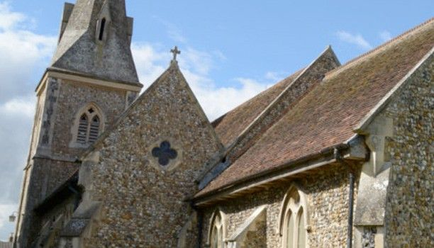 The outside of the church