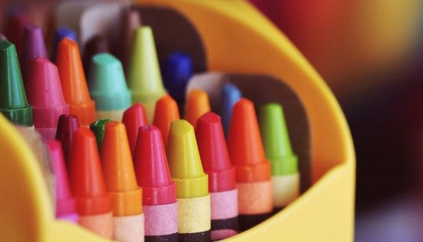Some crayons